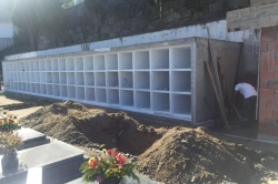 Alterações no cemitério já são visíveis