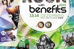 Cartaz fechado para o Rock With Benefits